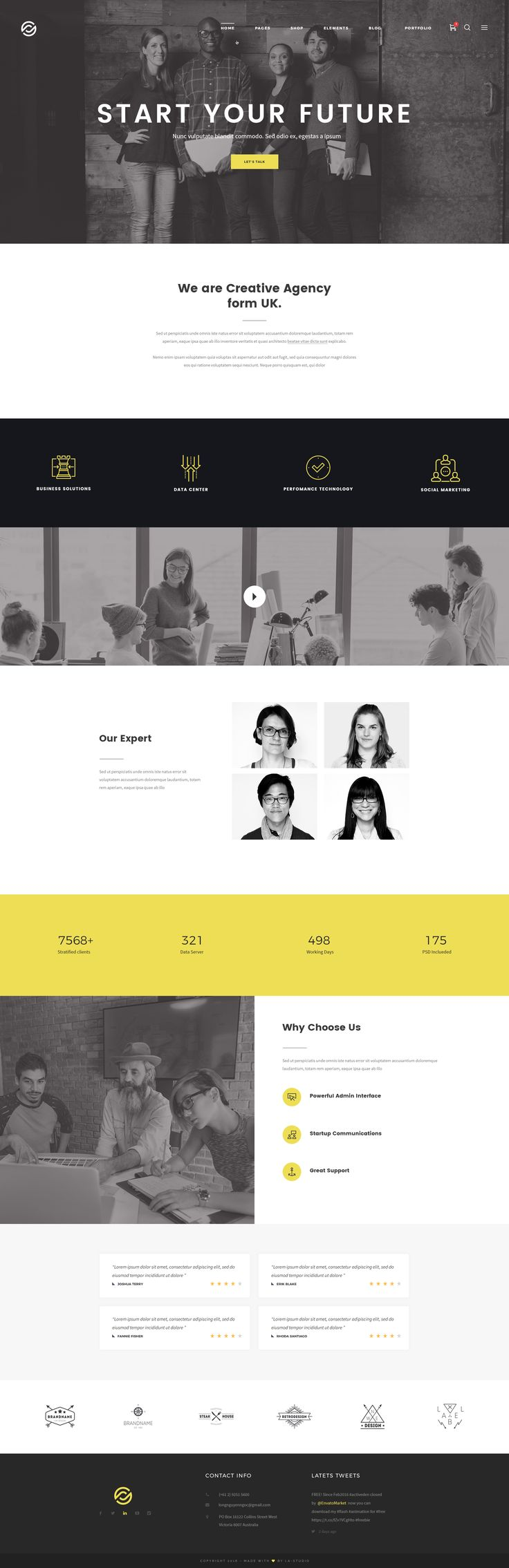Optima - Multipurpose PSD Template by LA-Studio | ThemeForest