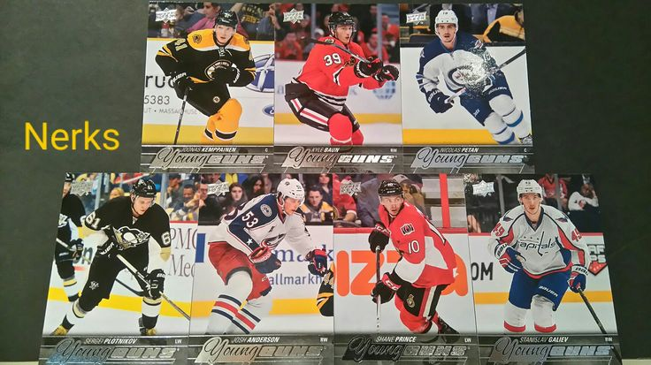 2015-16 Upper Deck series one Young Guns. $10.00 for all 7, CDN +ship. Message me for individual cost.