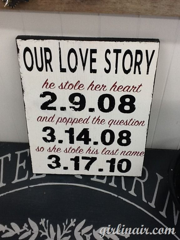 Perfect for decoration at the ceremony/reception and cute decor for the house afterward. I like it only change stole to WON in the first sentence and change stole to GAINED in the last sentence.