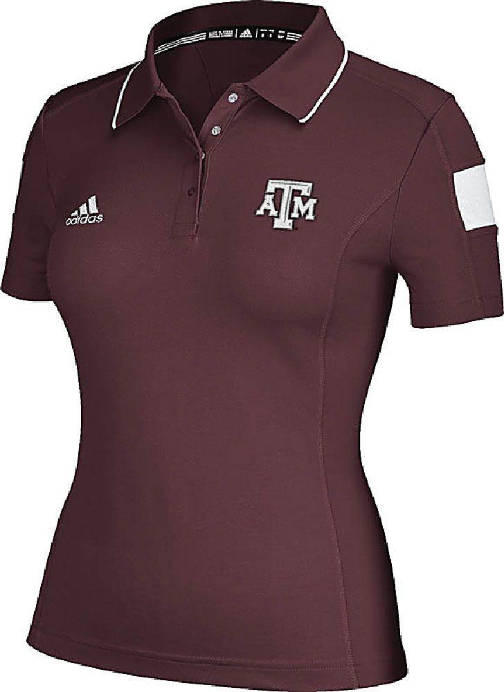 Texas A&M Aggies Ladies Climalite Sideline Polo Shirt by