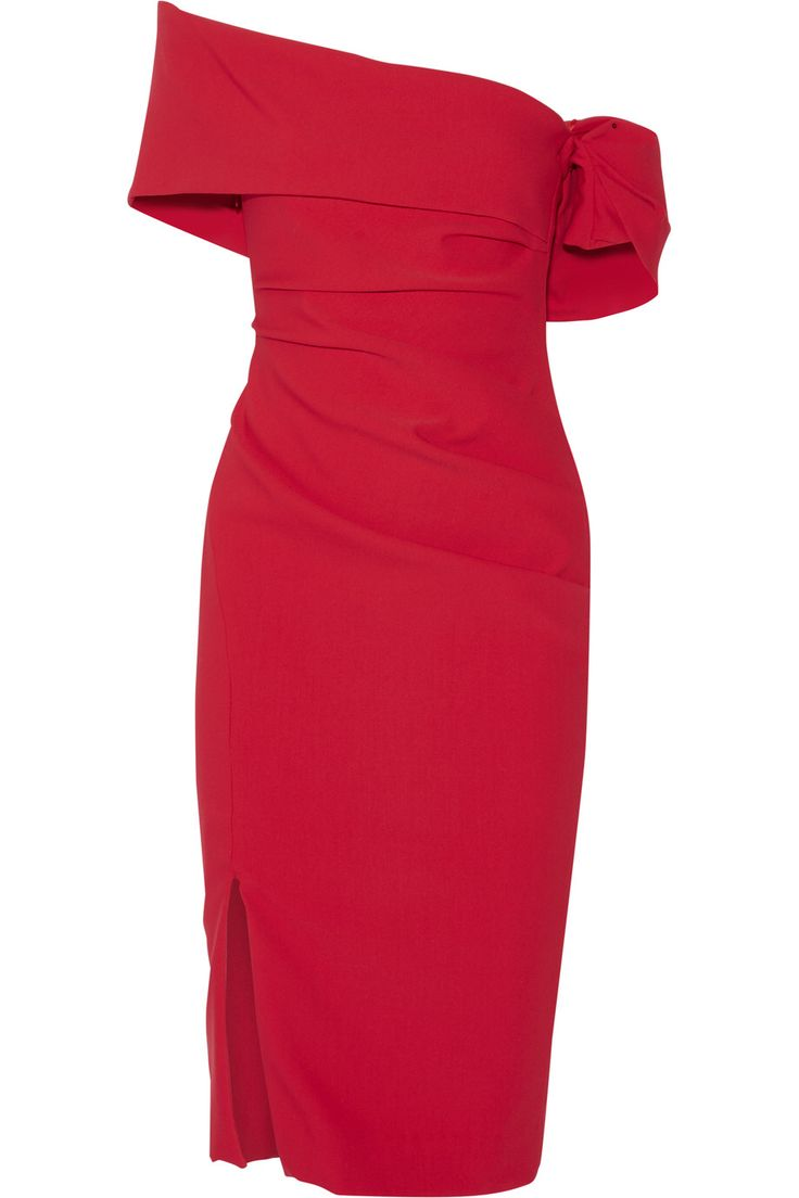 HANEY OFF-THE-SHOULDER RUCHED STRETCH-CREPE DRESS GBP911.74 http://www.theoutnet.com/product/675791