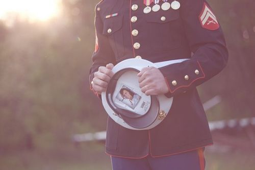 Marine Corps ♥ my picture is in Tonys hat just like this!