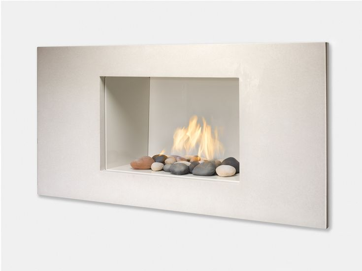 Modern white fireplace modern vision gas fireplace for Modern gas insert fireplace