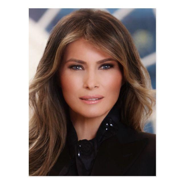 Melania Trump Official White House Photo Postcard Zazzle Com In 2021 Highlights Brown Hair Light Brown Hair Medium Length Hair Styles