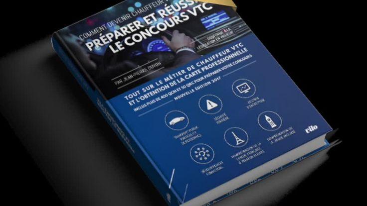 """Formation VTC: le livre.mp4  """"Preparer et reussir le concours vtc"""" Edition 2017  Le manuel de reference pour se preparer à l'examen de chauffeur VTC en complement d'une formation ou candidat libre selon votre niveau:   +400 QCM et 50 QRC, les 7 épreuves réparties en 6 modules.  Conforme au decret du 6 Avril 2017 (loi Grandguillaume)  En vente sur www.concoursvtc.fr  Edition 2017 300 pages  (Attention l edition 2016 est obsolete) http://www.concoursvtc.fr"""