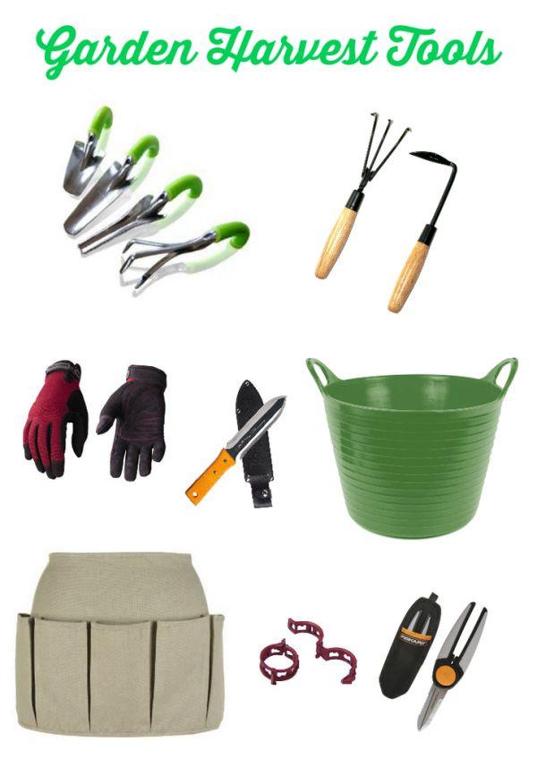 Garden Tools for Harvesting on ASpicyPerspective.com #garden #gardening #fall