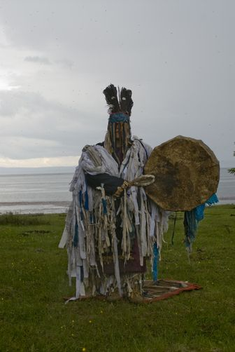 A 53-year-old shaman of the Tsaatan or Reindeer people.  Ulaan Tolgoi, Lake Hovsgol, Mongolia.