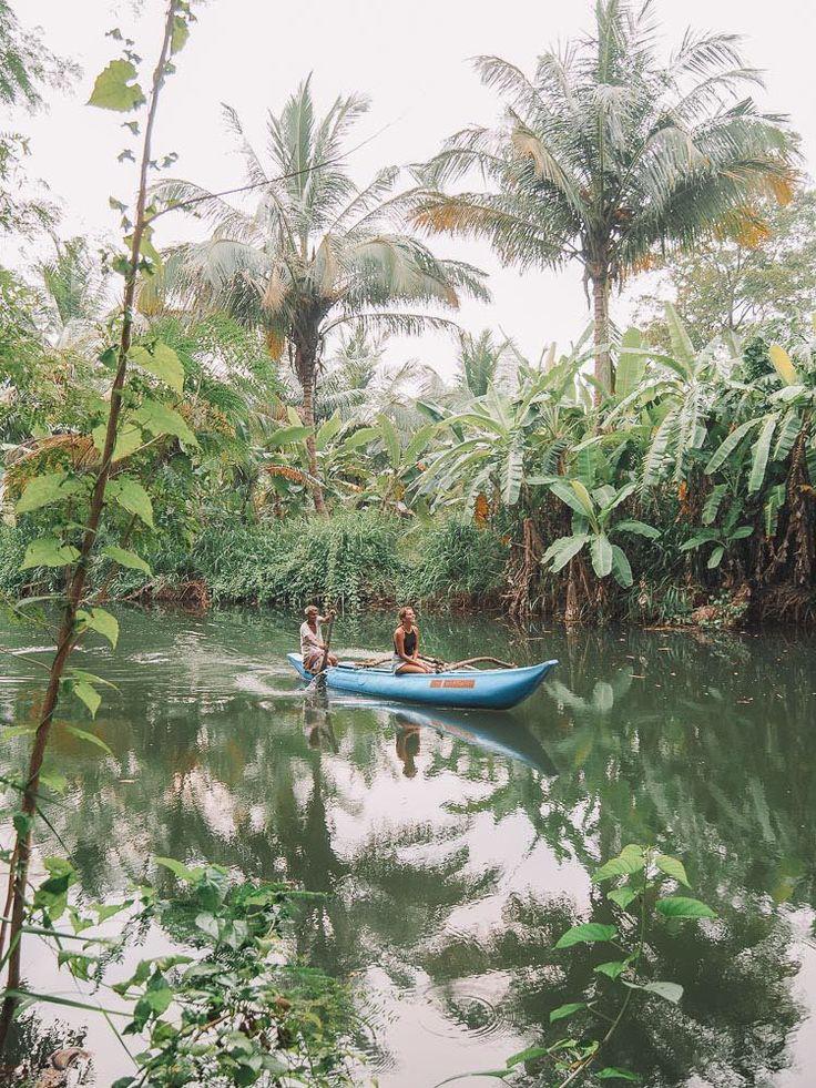Canoe tour through the jungle of Sri Lanka. Wanderlust