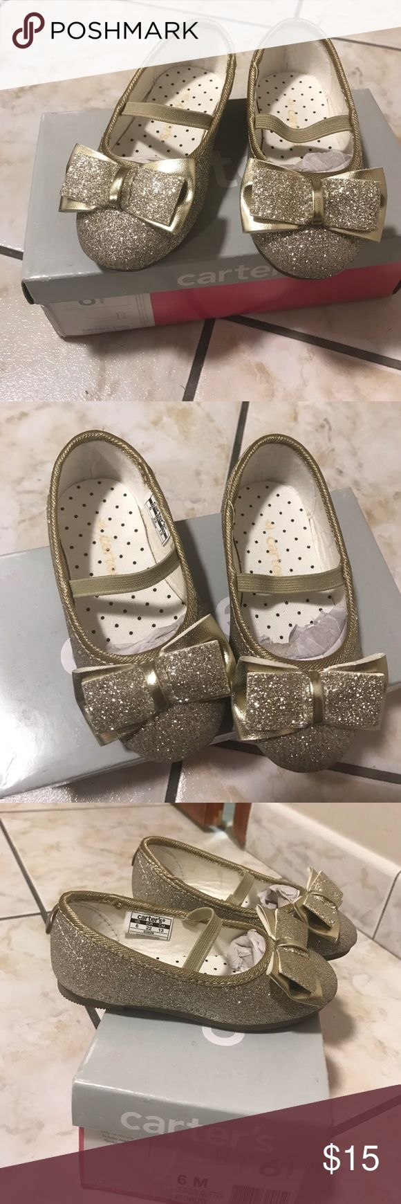 Gold Glitter Shoes Light Gold and white Converse. Worn Once in December for a Christmas Photoshoot In Great Condition, Like New. Fast Delivery (Will ship the same day or the Following) Carter's Shoes Dress Shoes