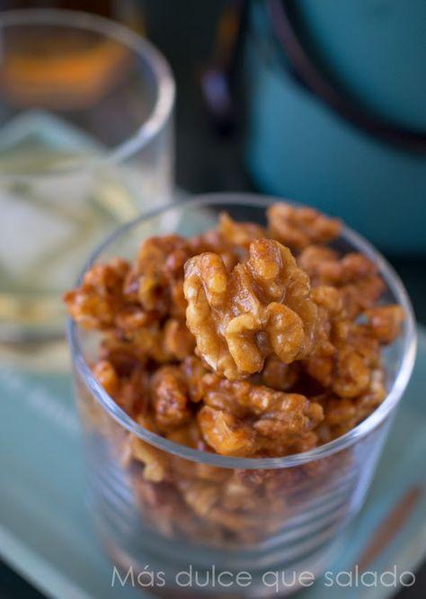 Nueces caramelizadas con miel