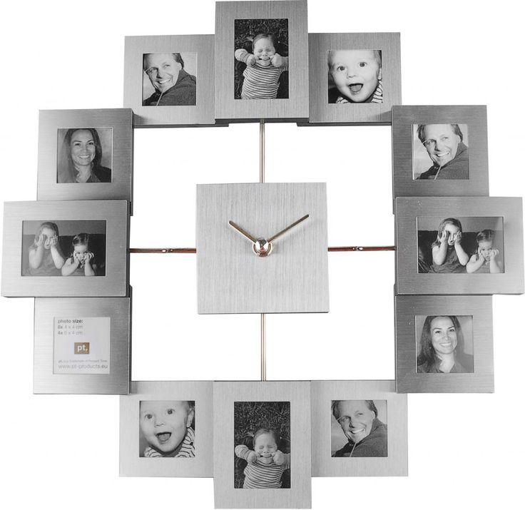 Fotolijst Klok Family Time - PT0886 - Aluminium - Small - pt, - Woonwebwinkel LiL.nl