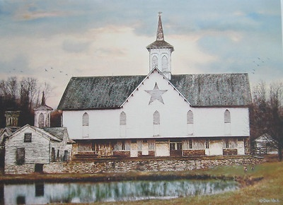 """""""Star Barn"""" Barn with Cupola and Star Pond Rural"""