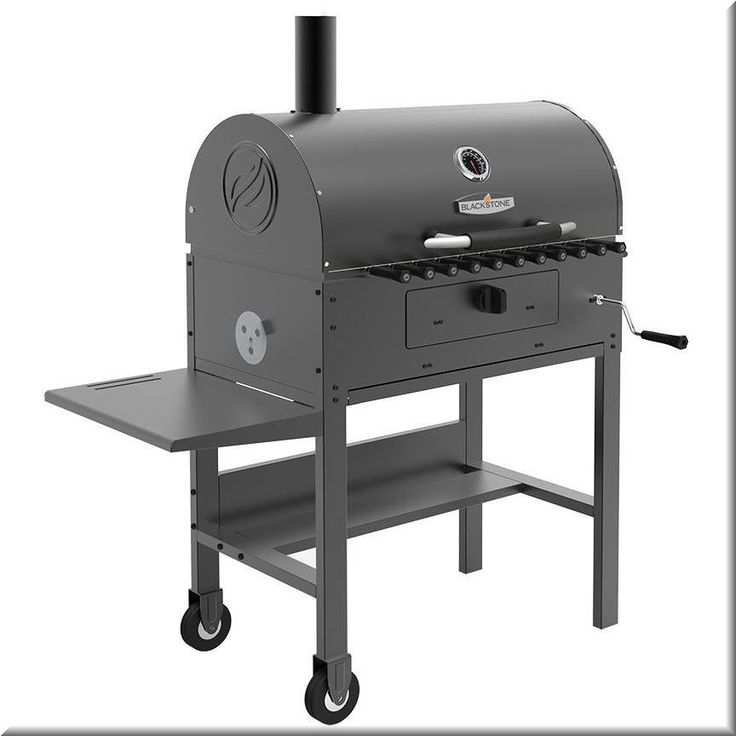 Charcoal Kabob Grill Outdoor Cooking Metal Wheeled Stand Side Table Grills  | eBay