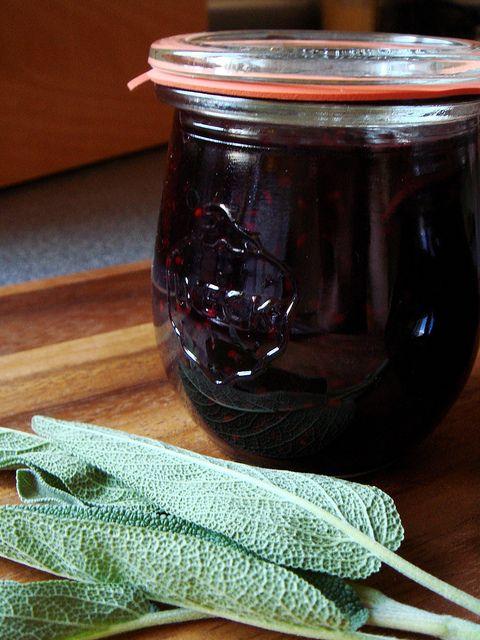 Black raspberry sage jam in gorgeous Weck Tulip jars... @dessertbycandy