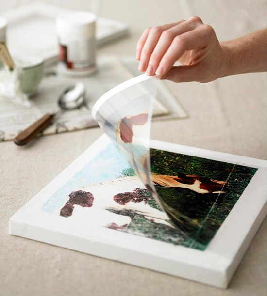 photo transfers onto canvas