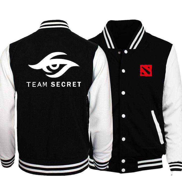 Dota 2 Men Baseball Jackets 2017 Spring Hot Team Secret Dota 2 Men Coat Natus Vincere Gamer hoodies Fashion Plus Size Jacket
