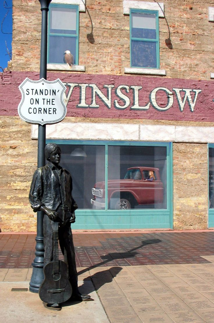 Jackson Browne Statue, Winslow, Arizona - Great song writer, great hit for The Eagles (Take it Easy)