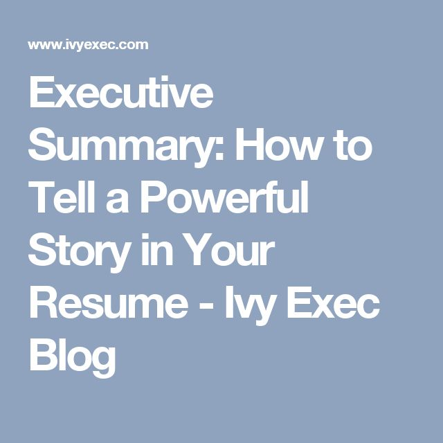 The 25+ best Executive summary example ideas on Pinterest - resume summary statement examples