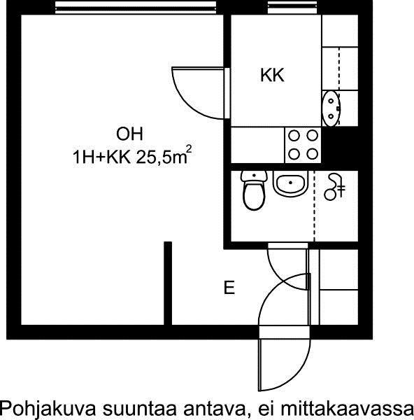 Porttikuja, Kontula, Helsinki, 1h+kk 25,5 m², SATO vuokra-asunto
