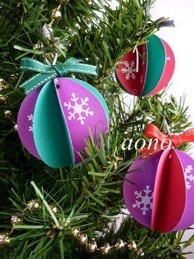 クリスマス飾りの簡単な折り紙・切り絵図案!サンタ・トナカイ・ヒイラギ・雪の結晶他 - NAVER まとめ