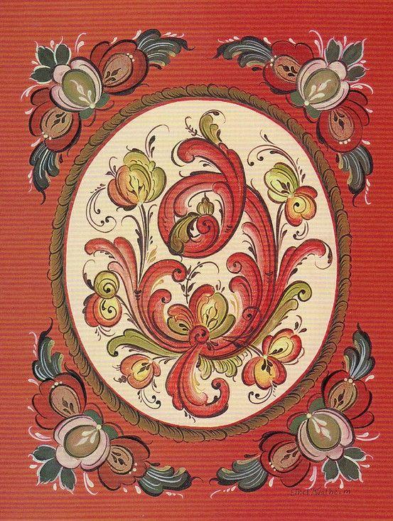 Rosemaling Card
