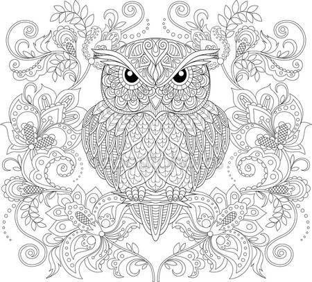678 best images about coloring owls on pinterest. Black Bedroom Furniture Sets. Home Design Ideas