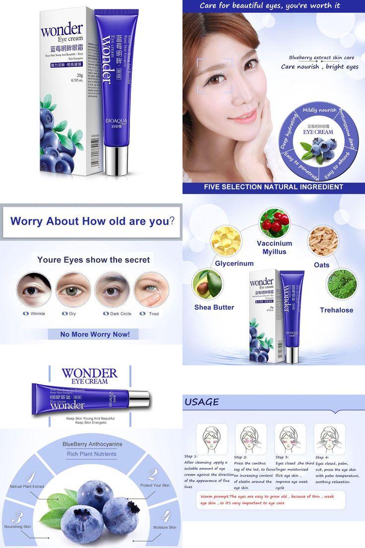 [Visit to Buy] 20g Bioqua Blueberry Eye Cream Anti Age Dark Circle Remover Moisturizer Eye Skin Care Maquillage #Advertisement