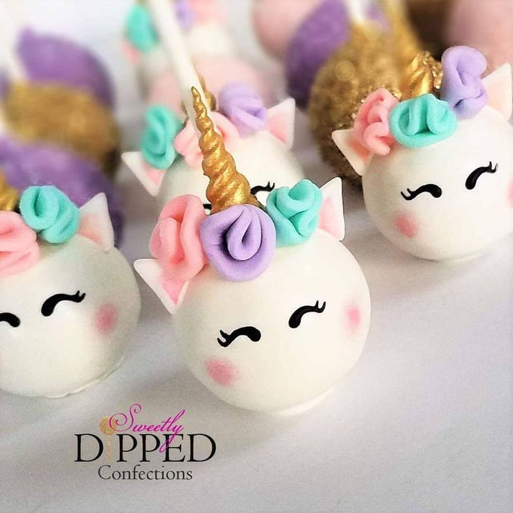 """870 Likes, 22 Comments - Brandi Matiyak (@sweetlydippedconfections) on Instagram: """"It's a rainbows and Unicorns kinda day!   #cakepops #unicorns #unicorncakepops #unicorntheme…"""""""