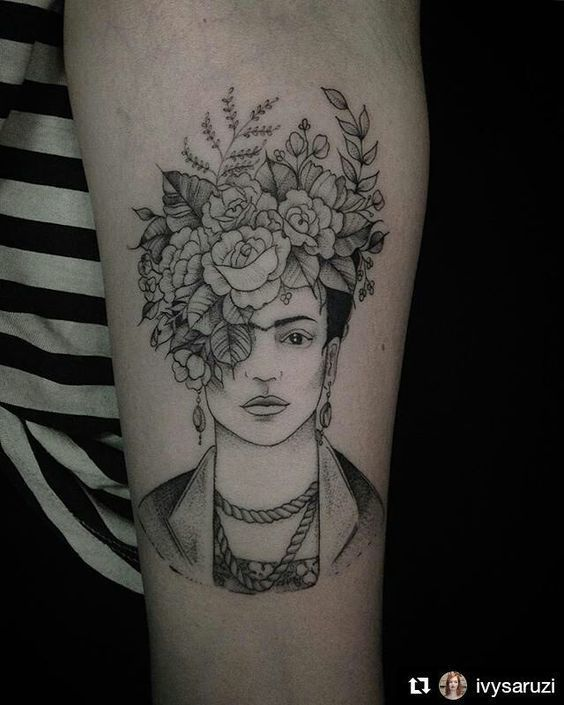 Because Frida was the ultimate flower crown queen.