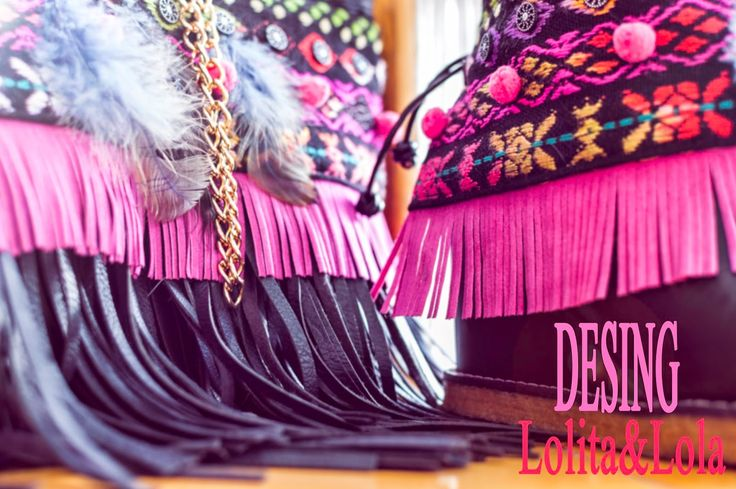cubrebotas boho chic complementos moda  Boot cuffs fashion accessories alaolita&Lola: Cover&Bag Cubrebotas y bolso indie ajuego. Cover b...