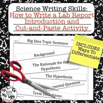 Help your students learn how to write a proper lab report introduction with my science lab report writing skills activities! This activity packet is included in a money-saving bundle!