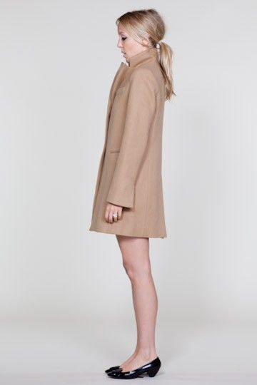 camel coat + black patent flats / fall / simple / polished / emerson fry
