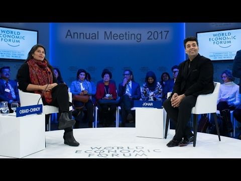 Davos 2017 - A Conversation with Karan Johar and Sharmeen Obaid Chinoy a conversation between leading filmmakers Sharmeen Obaid-Chinoy from Pakistan and Karan Johar from India on their journeys as artists in the Indian subcontinent and on the power of film for diplomacy. #Films