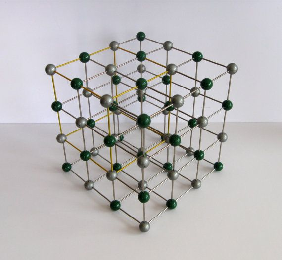 best vintage molecular model scientific physics geometric sculpture stick and ball abstract modern.  I want one of these!