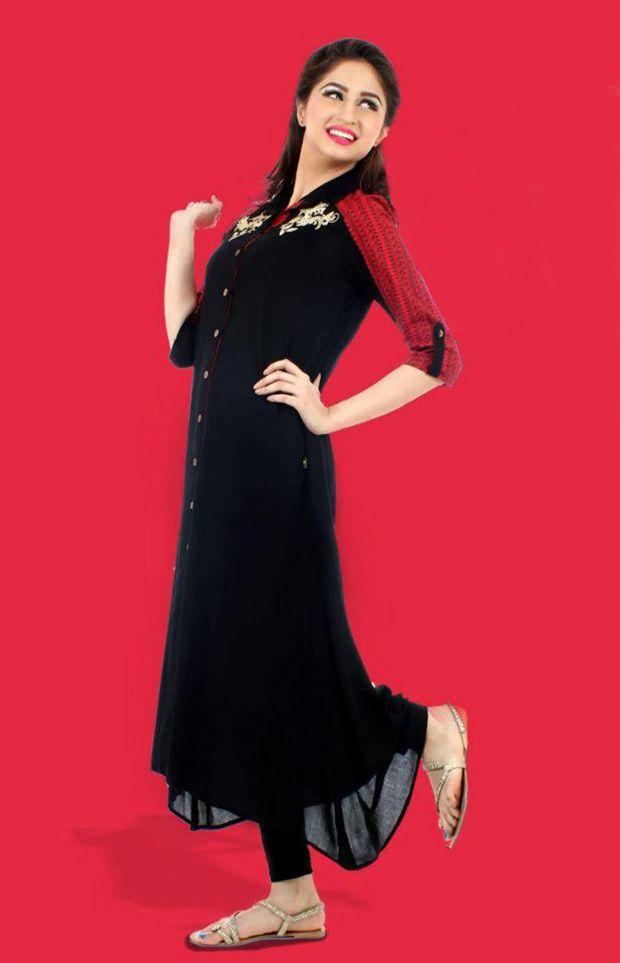 Price :- INR 2000  Design No. : UE268  Product Page :- http://www.unnatiexports.com/design/closeup/women-party-wear-kurtis-a-5-b-7.html
