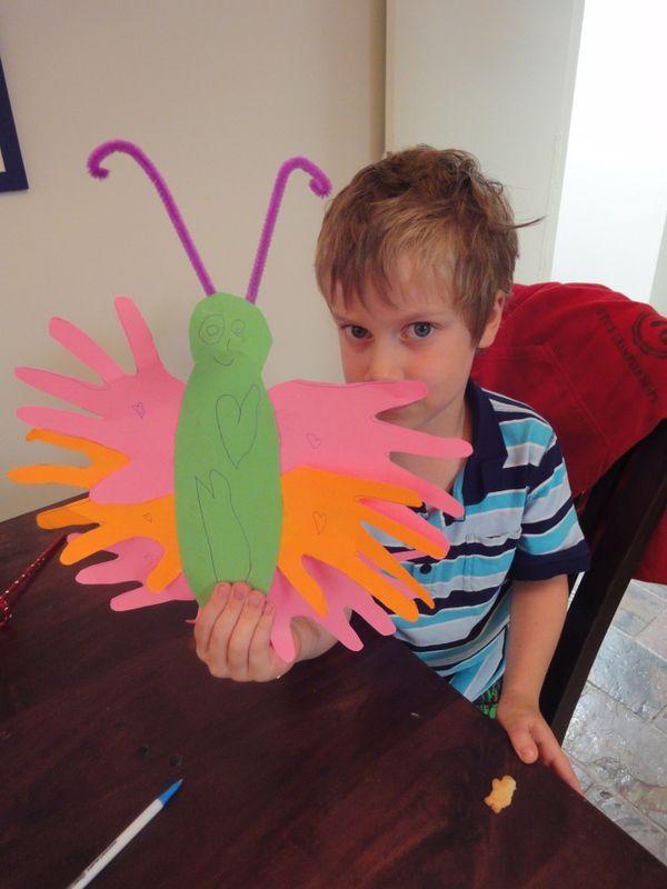 Preschool Handprint Butterfly Craft