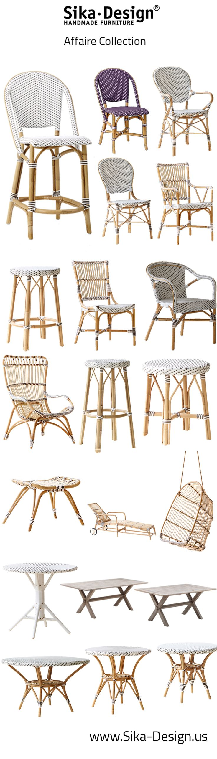 The Affaire Collection is designed for upper end cafes, brasseries, bistros and restaurants in historical European cities and capitals throughout the world. Our handcrafted Affaire French bistro chairs, stools and tables bring you back to the atmosphere of Paris life in the 30s and are available in an array of updated eye catching colors.