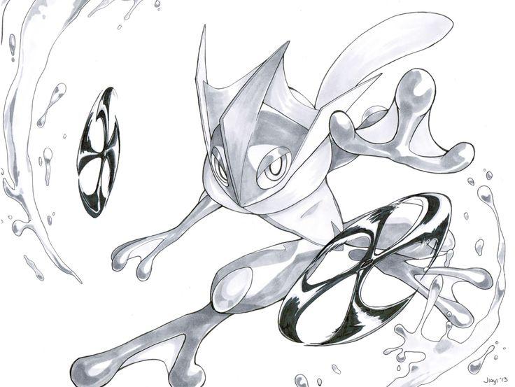 greninja pokemon mega pages ash colouring smash super bros gray deviantart searches recent