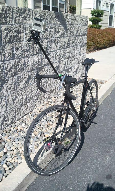 Face level bike mount GoPro camera