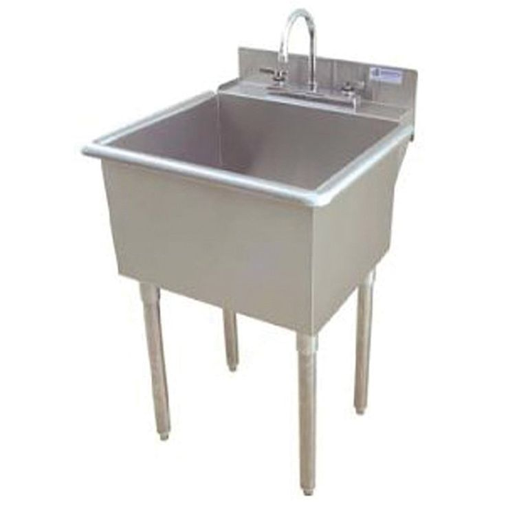 Griffin LT 118 Utility Commercial Sink, Stainless Steel | ATG Stores