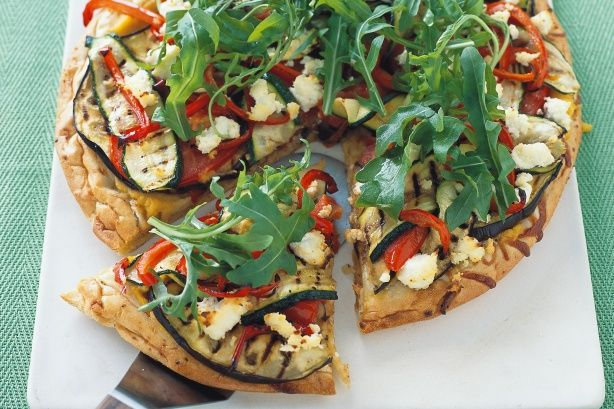 Barbecued vegetable pizza main image