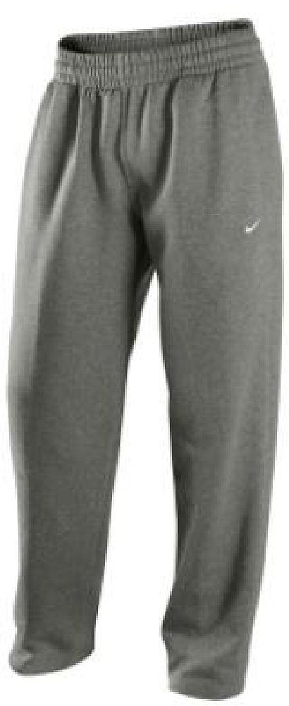 Nike Grey Open Bottom Swoosh Fleece Sweatpants | I want grey sweatpants like the ones Augustus Waters wears in The Fault in Our Stars.