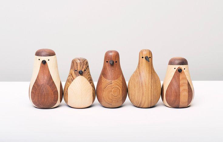 Wood turned birds!