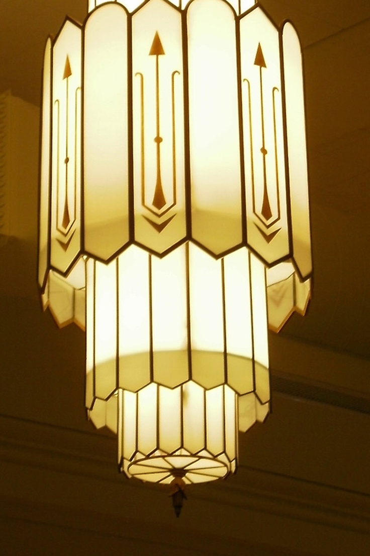 Art Deco 1930s Chandelier To Die For Pinterest