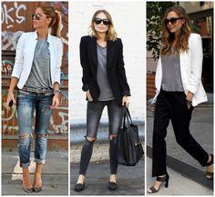Camiseta Cinza - como usar  - casual chic