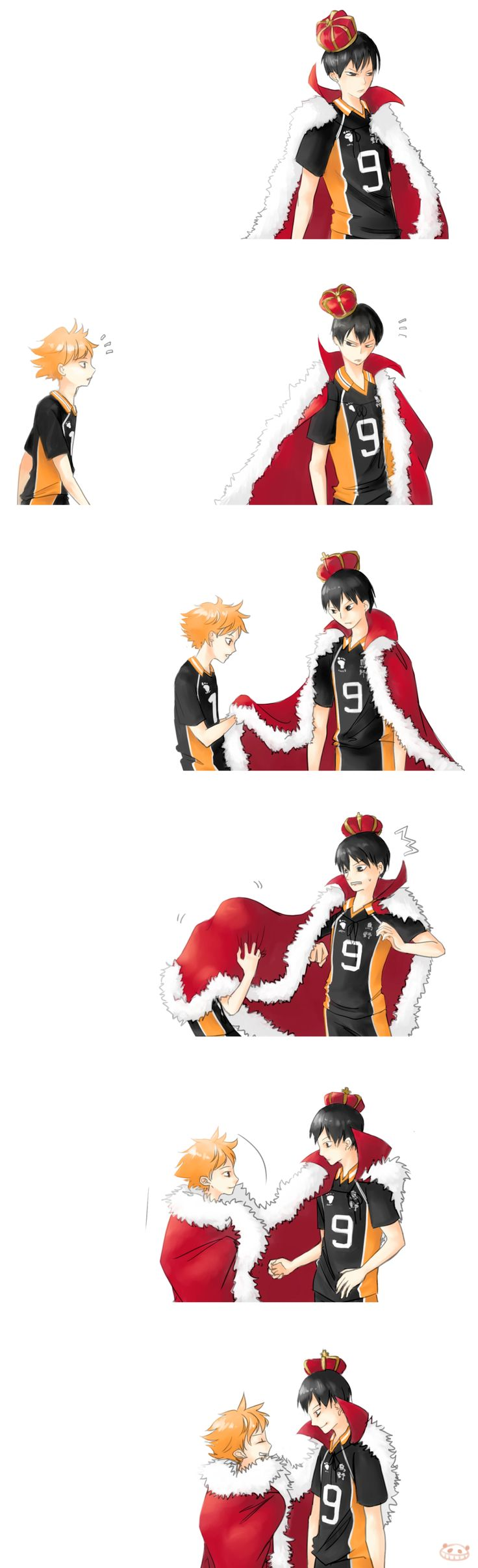 Haikyuu!! ~~ I would love to see the team depicted as chess pieces! After all, we have the King and Queen right here... :: [ The King's first team mate by Dagneo.deviantart.com on @deviantART ]