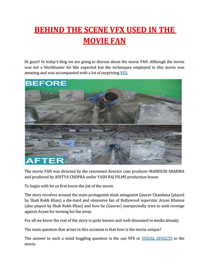 Hi guys!! In today's blog we are going to discuss about the movie FAN. Although the movie was not a blockbuster hit like expected but the techniques employed in this movie was amazing and was accompanied with a lot of surprising VFX.