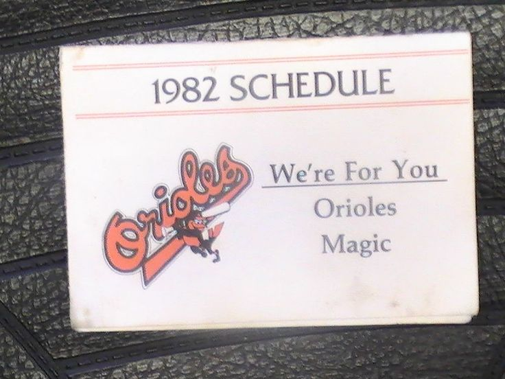 1982 Baltimore Orioles Schedule FIVE Signatures! Cool Piece