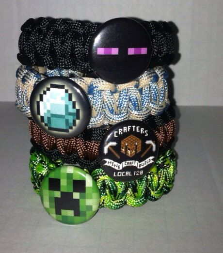 Minecraft Party Favors for 5  Bracelets