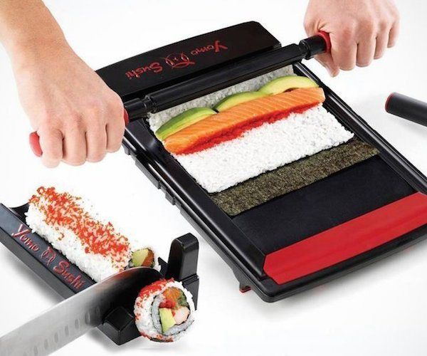 Yomo Sushi Maker  Sushi Rolling System and Roll Cutter